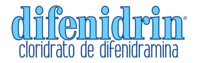Difenidrin - reações alérgicas